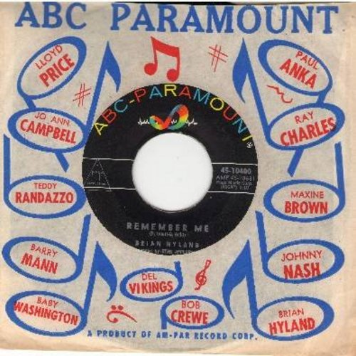 Hyland, Brian - If Mary's There/Remember Me (with original ABC-Paramount company sleeve) - EX8/ - 45 rpm Records
