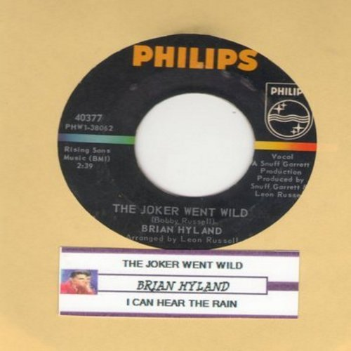Hyland, Brian - The Joker Went Wild/I Can Hear The Rain (with juke box label) - EX8/ - 45 rpm Records