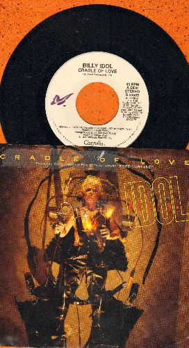 Idol, Billy - Cradle Of Love/311 Man (with picture sleeve) - NM9/EX8 - 45 rpm Records