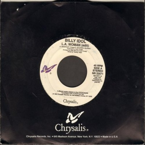 Idol, Billy - L.A. Woman/License To Thrill (with Chrysalis company sleeve) - M10/ - 45 rpm Records