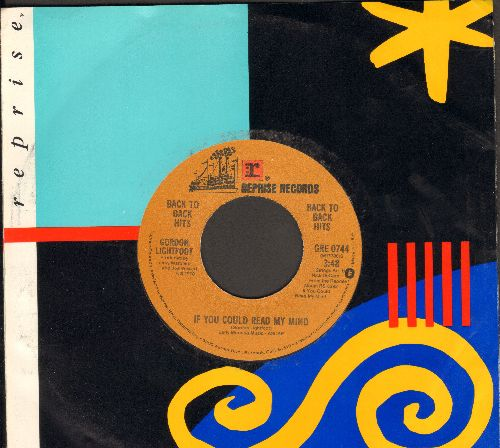 Lightfoot, Gordon - If You Could Read My Mind/Me And Bobby McGee (authentic-looking double-hit re-issue) - NM9/ - 45 rpm Records