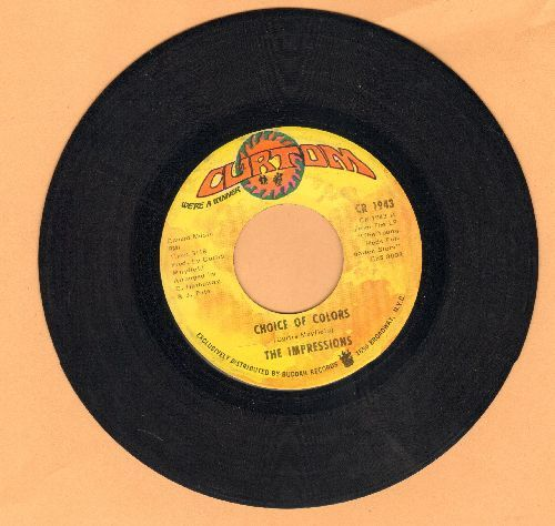 Impressions - Choice Of Colors/Mighty Mighty Spade & Whitey - EX8/ - 45 rpm Records