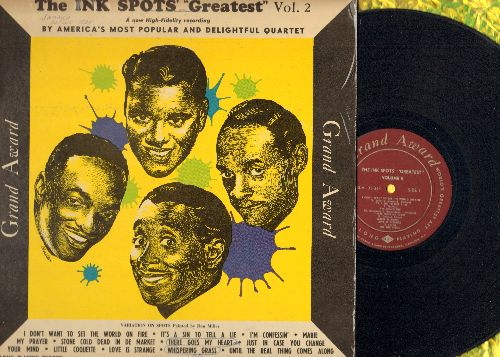 Ink Spots - Greatest Vol. 2: Love Is Strange, My Prayer, Until The Real Thing Comes Along, I'm Confessin' (vinyl MONO LP record) - EX8/EX8 - LP Records