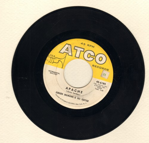 Ingmann, Jorgen - Apache/Echo Boogie  - VG6/ - 45 rpm Records