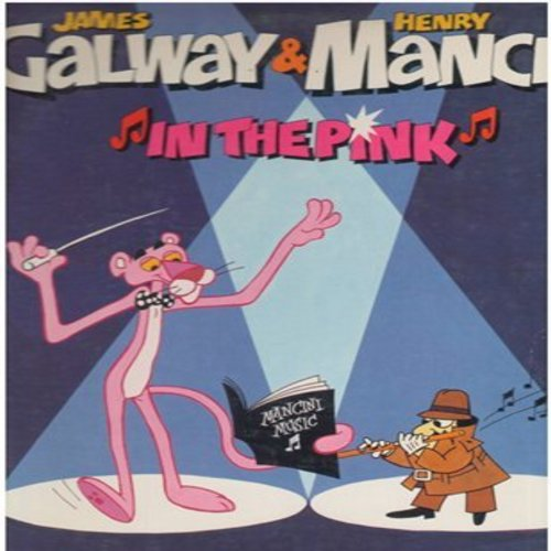 Mancini, Henry & James Galway - In The Pink: Pink Panther Theme, The Thorn Birds, Breakfast At Tiffany's, Baby Elephant Walk (vinyl STEREO LP record, RED SEAL pressing) - NM9/EX8 - LP Records