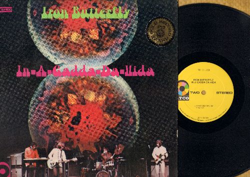 Iron Butterfly - In-A-Gadda-Da-Vida: Most Everything You Want, Flowers And Beads, My Mirage, Termination, Are You Happy (vinyl STEREO LP record, yellow label, multi-color logo, Gold Record Award sticker on cover) - VG7/VG6 - LP Records