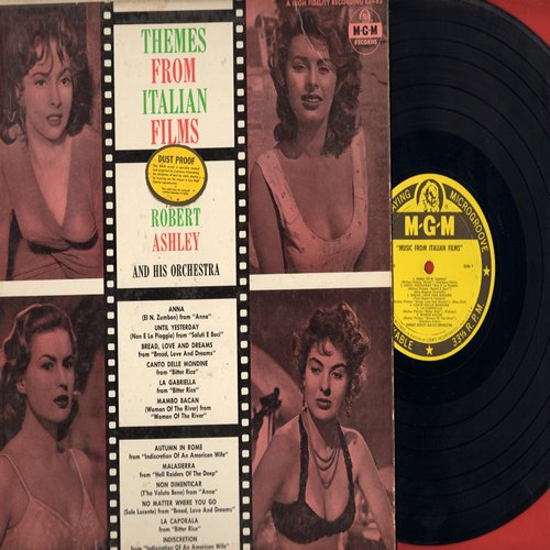 Ashley, Robert & His Orchestra - Themes From Italian Films: Bitter Rice, Anna, Bread Love And Dreams, Woman Of The River, others (vinyl MONO LP record) - NM9/VG7 - LP Records