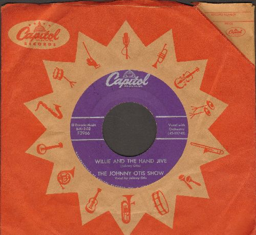 Otis, Johnny Show - Willie And The Hand Jive/Ring-A-Ling (purple label first issue with vintage Capitol company sleeve) - VG7/ - 45 rpm Records