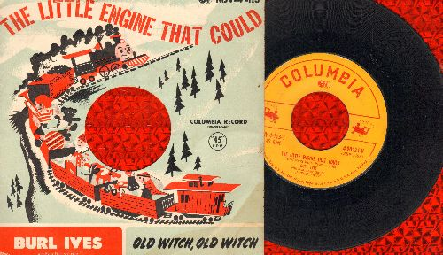 Ives, Burl - The Little Engine That Could/Old Witch, Old Witch (with RARE picture sleeve) - G5/VG7 - 45 rpm Records