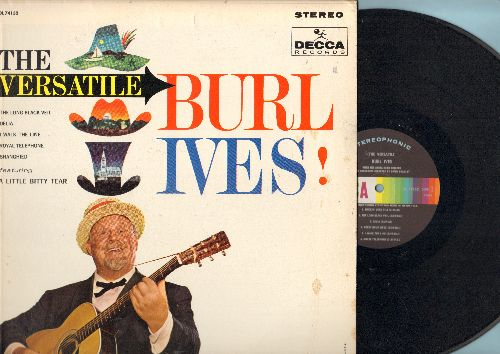 Ives, Burl - The Versatile Burl Ives!: Delia, I Walk The Line, The Almighty Dollar Bill, Mocking Bird Hill (vinyl STEREO LP record) - NM9/EX8 - LP Records