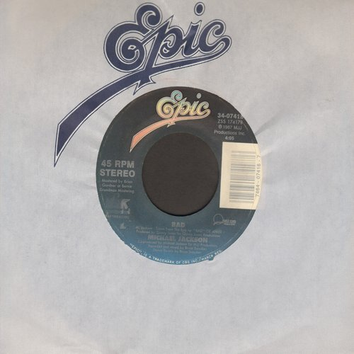 Jackson, Michael - Bad/I Can't Help It (with Epic company sleeve) - EX8/ - 45 rpm Records