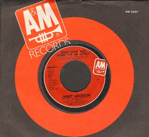 Jackson, Janet - What Have You Done For Me Lately/He Doesn't Know I'm Alive (with A&M company sleeve) - NM9/ - 45 rpm Records