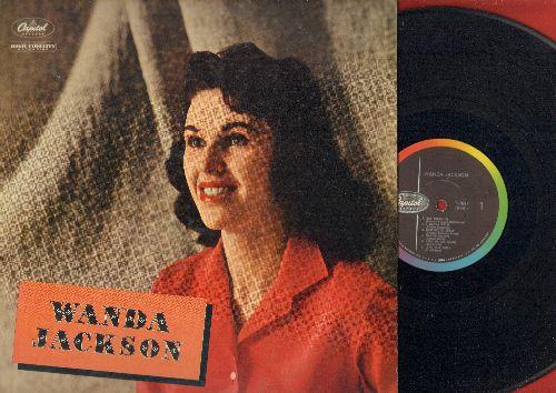 Jackson, Wanda - Wanda Jackson: Day Dreaming, Long Tall Sally, Let's Have A Party, Money Honey, Happy Happy Birthday (vinyl MONO LP record, 1958 first pressing) - VG7/EX8 - LP Records