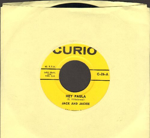 Jack & Jackie - Hey Paula/Walk Right In (by The Glitters on flip-side) (contemporary cover versions) - M10/ - 45 rpm Records