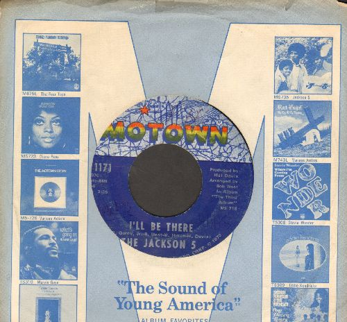 Jackson 5 - I'll Be There/One More Chance (with Motown company sleeve)(minor wol) - EX8/ - 45 rpm Records