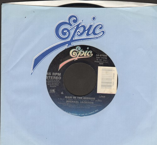 Jackson, Michael - Man In The Mirror/Man In The Mirror (Instrumental) - NM9/ - 45 rpm Records
