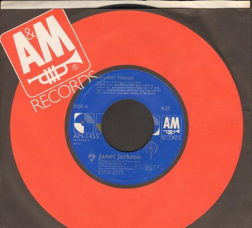 Jackson, Janet - Rhythm Nation/Rhythm Nation (Instrmental) (with A&M company sleeve) - EX8/ - 45 rpm Records