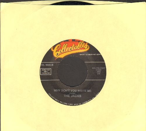 Jacks - Why Don't You Write Me/Church Bells Will Ring (by The Willows on flip-side)(re-issue of vintage Doo-Wop recordings) - M10/ - 45 rpm Records