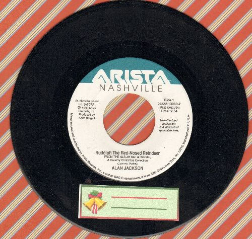 Jackson, Alan - Rudolph The Red-Nosed Reindeer/We Three Kings (Star Of Wonder) - NM9/ - 45 rpm Records