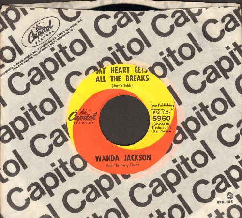 Jackson, Wanda - You'll Always Have My Love/My Heart Gets All The Breaks (with Capitol company sleeve) - VG7/ - 45 rpm Records