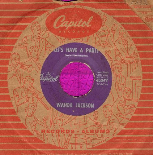 Jackson, Wanda - Let's Have A Party/Cool Love (with vintage Capitol company sleeve) - VG6/ - 45 rpm Records