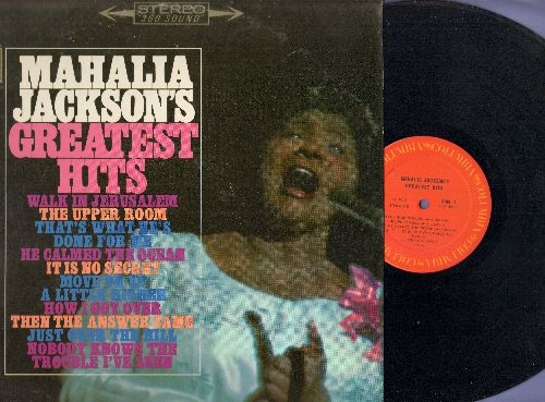 Jackson, Mahalia - Greatest Hits: Nobody Knows The Trouble I've Seen, The Upper Room, It Is No Secret, Just Over The Hill (vinyl STEREO LP record) - NM9/EX8 - LP Records
