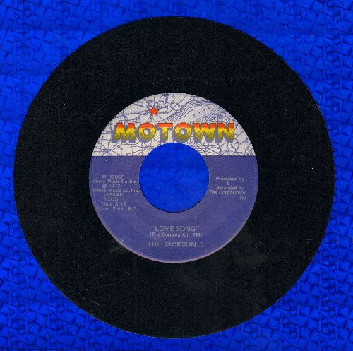 Jackson 5 - Love Song/Lookin' Through The Windows (with juke box label) - NM9/ - 45 rpm Records