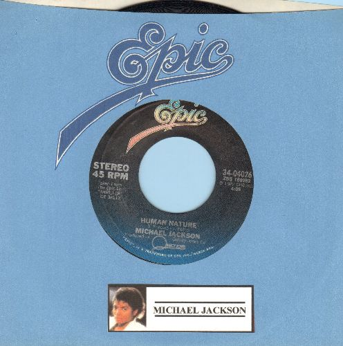 Jackson, Michael - Human Nature/Baby Be Mine (with Epic company sleeve) - EX8/ - 45 rpm Records