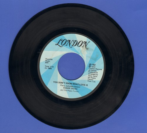 Jacks, Susan - You Don't Know What Love Is/Another Year, Another Day - EX8/ - 45 rpm Records