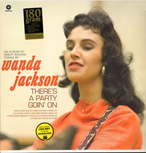 Jackson, Wanda - There's A Party Goin' On: Tweedly Dee, Man We Had A Party, Savin' My Love, Who Shot Sam (vinyl LP record, digital re-issue of vintage recordings, EU Pressing, SEALED, never opened!) - SEALED/SEALED - LP Records