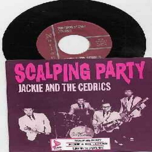 Jackie & The Cedrics - Scalping Party/Sukiyaki Stomp/Justine (vinyl EP record with picture sleeve and juke box label) - M10/M10 - 45 rpm Records