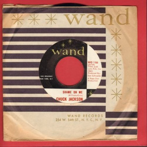 Jackson, Chuck - Shame On Me/Candy (with Wand company sleeve) - NM9/ - 45 rpm Records