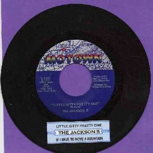 Jackson 5 - Little Bitty Pretty One/If I Have To Move A Mountain (with juke box label) - NM9/ - 45 rpm Records