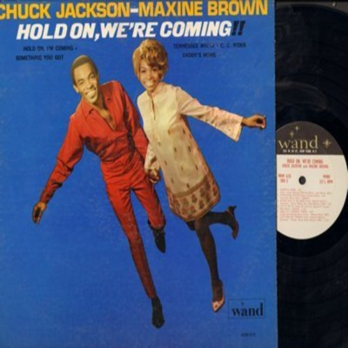 Jackson, Chuck & Maxine Brown - Hold On, We're Coming!!: Shake A Tail Feather, Daddy's Home, Let It Be Me, Tennessee Waltz (vinyl MONO LP record) - EX8/EX8 - LP Records