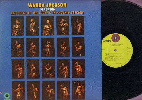 Jackson, Wanda - In Person: Let's Have A Party, Right Or Wrong, If I Had A Hammer, D-I-V-O-R-C-E, Release Me (vinyl STEREO LP record, bb lower left cover) - NM9/EX8 - LP Records