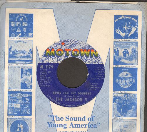 Jackson 5 - Never Can Say Goodbye/She's Good (with Motown company sleeve) - NM9/ - 45 rpm Records