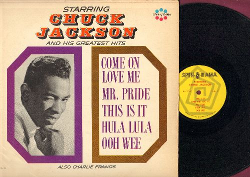 Jackson, Chuck - Starring Chuck Jackson And His Greatest Hits: Come On Love Me, Mr. Pride, Hula Lula, Ooh Wee,Handy Man Is Back In Town (vinyl MONO LP record) - NM9/VG7 - LP Records