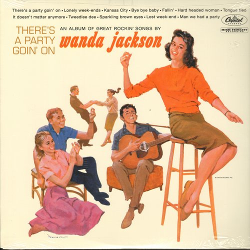 Jackson, Wanda - There's A Party Goin' On: Tweedlee Dee, Bye Bye Baby, Man We Had A Party (re-issue of RARE vintage recordings, SEALED, never opened!) - SEALED/SEALED - LP Records