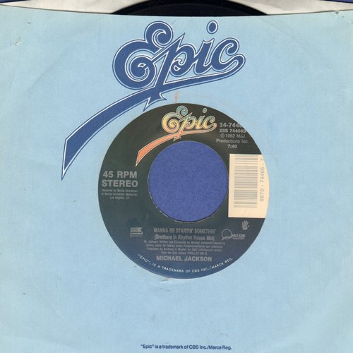 Jackson, Michael - Wanna Be Startin' Somethin'/Wanna Be Startin' Somethin' (Instrumental) - NM9/ - 45 rpm Records