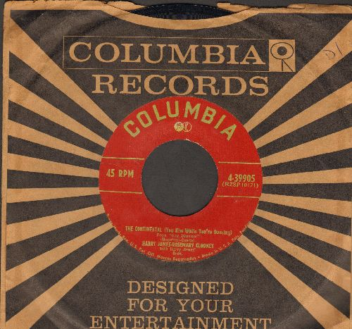 Clooney, Rosemary & Harry James - The Continental/You'll Never Know (with vintage Columbia company sleeve) - EX8/ - 45 rpm Records