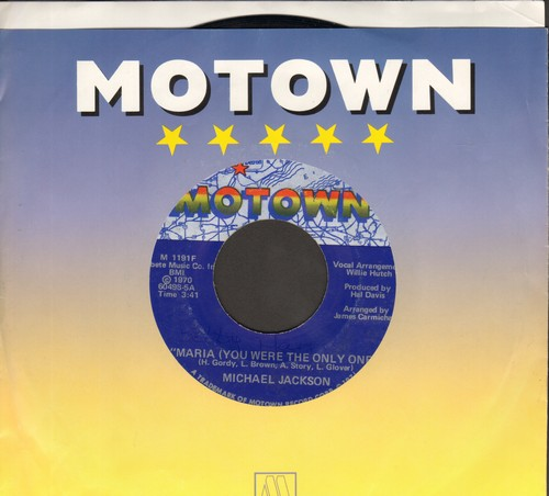 Jackson, Michael - Maria (You Were The Only One)/Got To Be There (with Motown company sleeve) - NM9/ - 45 rpm Records