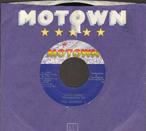 Jackson 5 - Love Song/Lookin' Through The Windows (Motown company sleeve) - NM9/ - 45 rpm Records