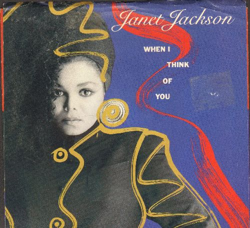 Jackson, Janet - When I Think Of You/Pretty Boy (with picture sleeve) - NM9/EX8 - 45 rpm Records