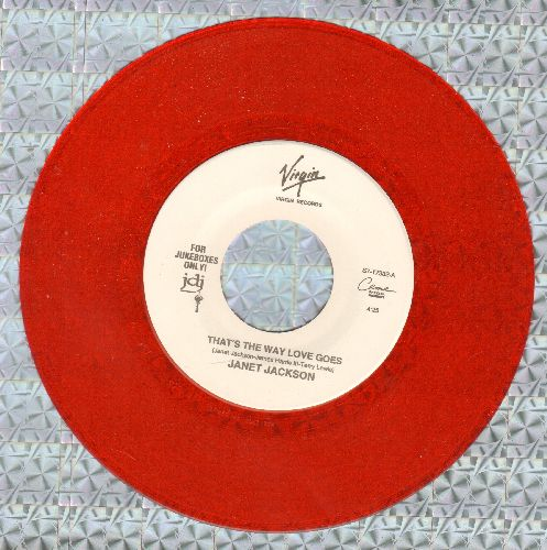 Jackson, Janet - That's The Way Love Goes/That's The Way Love Goes (Instrumental) (RED VINYL Juke Box Pressing) - NM9/ - 45 rpm Records