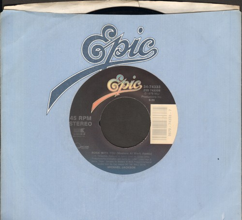 Jackson, Michael - Rock With You (Masters At Work Remix)/Jam (with Epic company sleeve) - EX8/ - 45 rpm Records