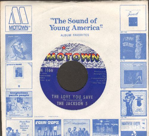 Jackson 5 - The Love You Save/I Found That Girl (MINT condition with Motown company sleeve) - M10/ - 45 rpm Records