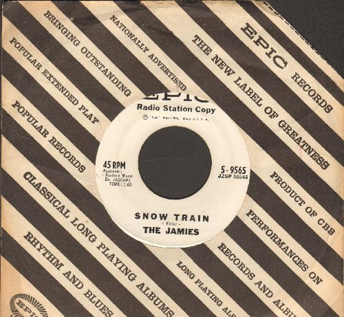 Jamies - Snow Train/When The Sun Goes Down (DJ advance pressing with vintage Epic company sleeve) - EX8/ - 45 rpm Records