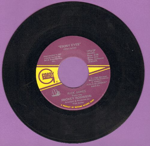 James, Rick - Ebony Eyes/1,2,3 (You, Her And Me) - EX8/ - 45 rpm Records