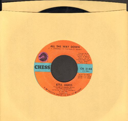 James, Etta - All The Way Down/Lay Back Daddy - VG7/ - 45 rpm Records