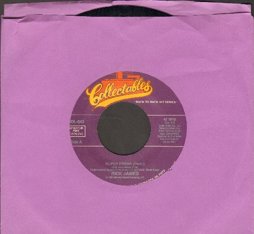 James, Rick - Super Freak (Part 1)/Give It To Me Baby (double-hit re-issue) - NM9/ - 45 rpm Records